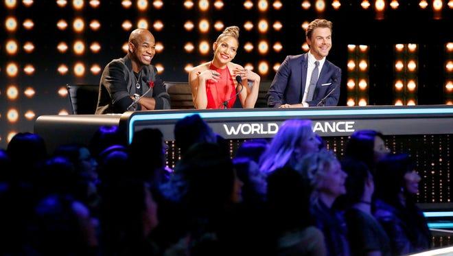 "Ne-Yo, Jennifer Lopez and Derek Hough serve as judges (while Jenna Dewan hosts) on ""World of Dance."""