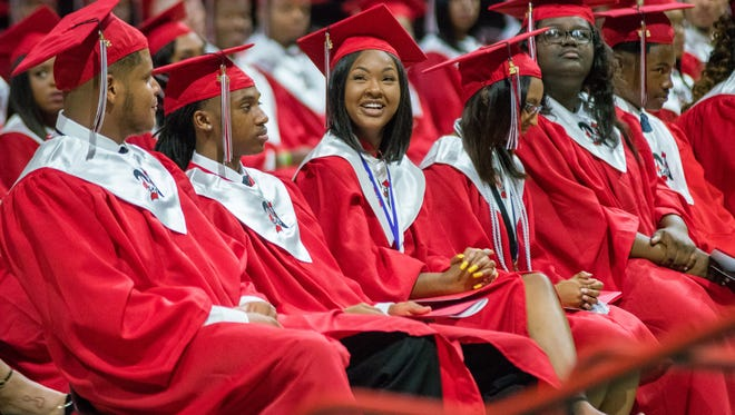 Northside high school holds its graduation ceremony at the Cajundome on May 19, 2018.