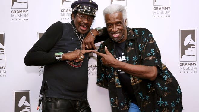 """Willie Chambers and Joe Chambers attend """"An Evening with the Chambers Brothers"""" at The Grammy Museum in 2016 in Los Angeles. The group will perform May 27 at the Simi Valley Cajun & Blues Music Festival."""
