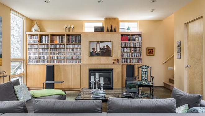The current owners made sure there was plenty of room for their music collection.