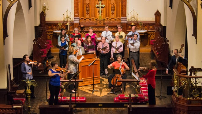 The Bach Parley Chamber Singers in 2017.