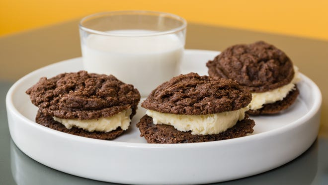 Homemade Oreos are hard to  stop eating.