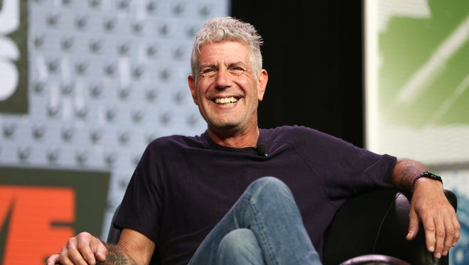 Anthony Bourdain speaks during South By Southwest at the Austin Convention Center on Sunday, March 13, 2016, in Austin, Texas.
