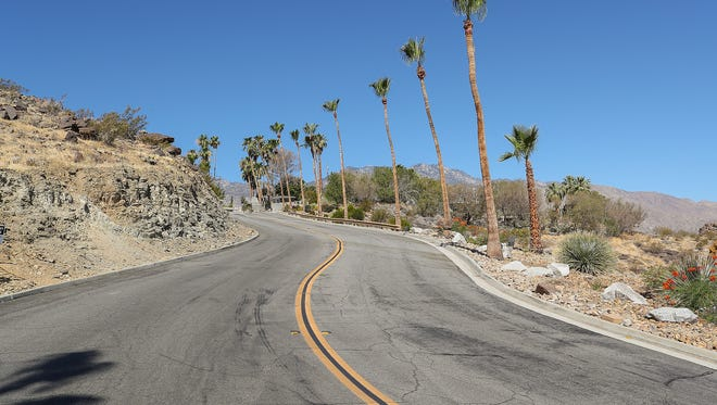 Homeowners along Southridge Drive in Palm Springs are sparring with a neighbor that claims they are trespassing on this stretch of road, which lies on Indian land the neighbor subleases.