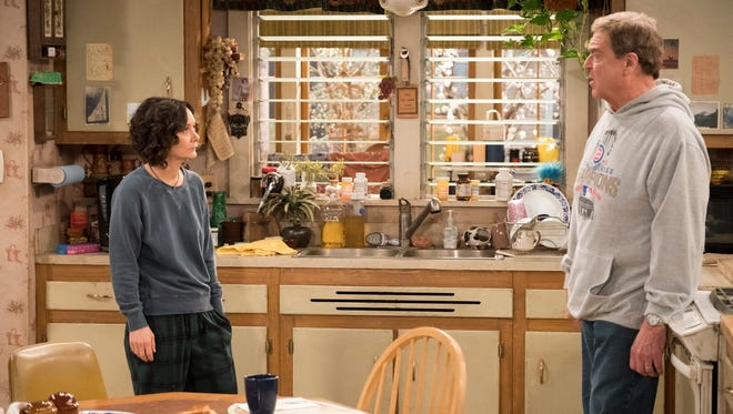 Sara Gilbert, left, and John Goodman, seen here in 'Roseanne,' will return in a spinoff, 'The Conners,' that won't include the original's central star, Roseanne Barr.