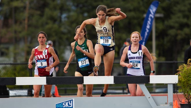 Montana State freshman Trisha Carlson, a former CMR star, had exceptional success in the steeplechase during the Indoor track and field season this spring.