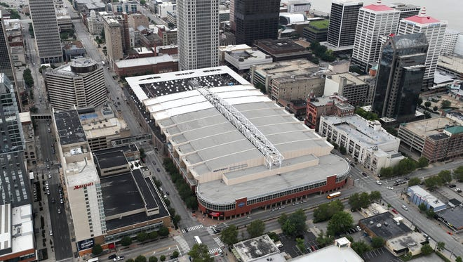 Downtown Louisville.  Convention center.June 23, 2018