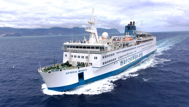 The Africa Mercy is the world's largest private hospital ship staffed by 400 volunteers from 40 nations.