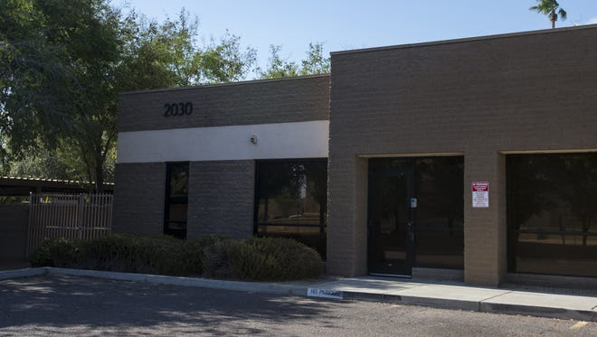 A vacant office building that housed immigrant children is pictured on Friday, July 6, 2018, in Phoenix. Reveal from The Center for Investigative Reporting reported that the building, which is not licensed by Arizona to hold children, served as a detainment facility in June.