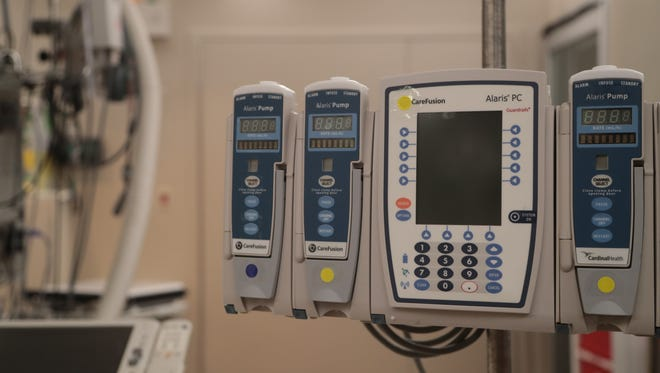 Equipment available at Desert Regional Medical Center allows local doctors to offer new medical procedures to patients with atrial fibrillation, July 18, 2018.