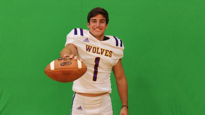 Senior Darian Richard is the leader of the Rayne Wolves as a two-way starter at running back and defensive end.