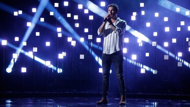 "Knoxville's Michael Ketterer performs in the ""America's Got Talent"" semifinals."