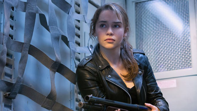 """Emilia Clarke as Sarah Connor, in """"Terminator Genisys,"""" from Paramount Pictures and Skydance Productions."""