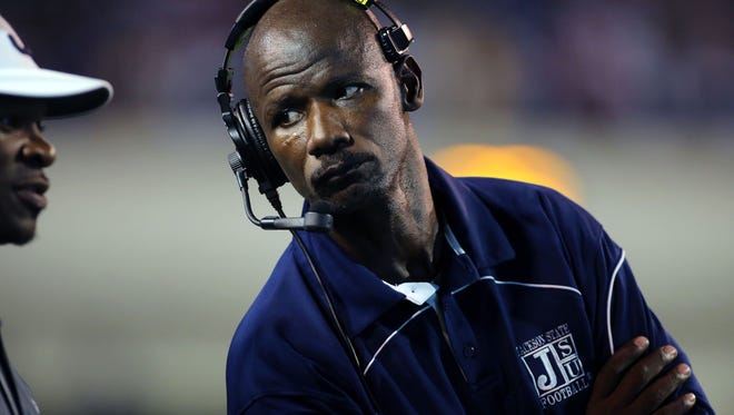 Former Jackson State defensive coordinator Derrick Burroughs, who was let go this week.