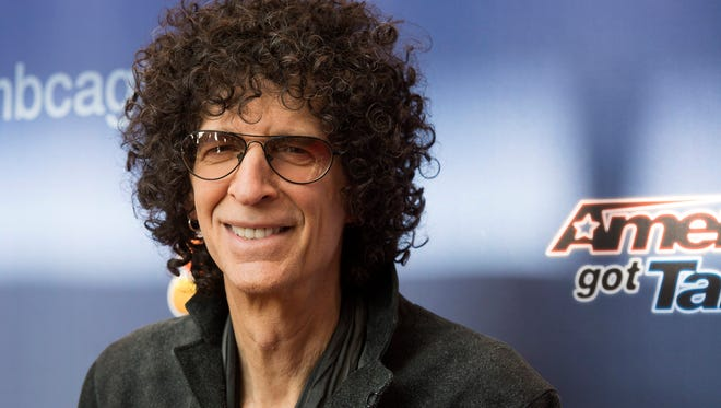 """Judge Howard Stern arrives at the """"America's Got Talent"""" Season 10 red carpet kick off at the New Jersey Performing Arts Center in Newark, N.J. The 10th season premieres Tuesday, May 26, at 8 p.m. ET."""