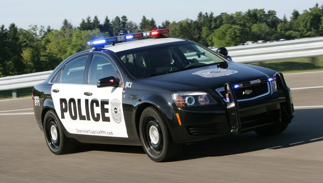 The 2011 Chevrolet Caprice PPV, the only police patrol vehicle to feature responsive rear-wheel-drive, has a powerful 6.0L V-8 engine, with 355 horsepower and 384 lb.-ft. torque. X11CH_CA008 (09/17/2010)  (United States)