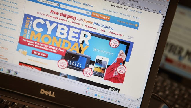 Fewer people are expected to shop online for Cyber Monday compared to 2013, according to National Retail Federation.