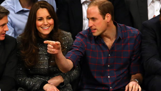 Will and Kate sit courtside at an NBA game.