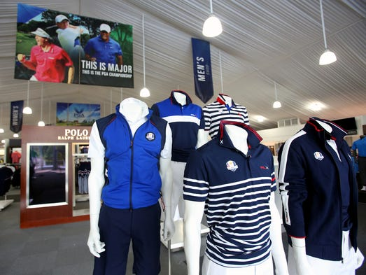 The PGA Championship merchandise pavilion is a 38,000 square foot facility that is as long as a football field.  It contains over 400,000 items for sell and will only be open for nine days.   July 30, 2014
