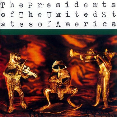 The cover of the self-titled 1995 album by The Presidents of the United States of America.