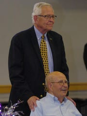 Former FPS Superintendent Bob Maxfield and former Board of Education member Jack Inch.