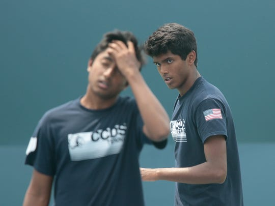 The CCD doubles team of Vishaal Nalagatia and Shashank Reddy won state.