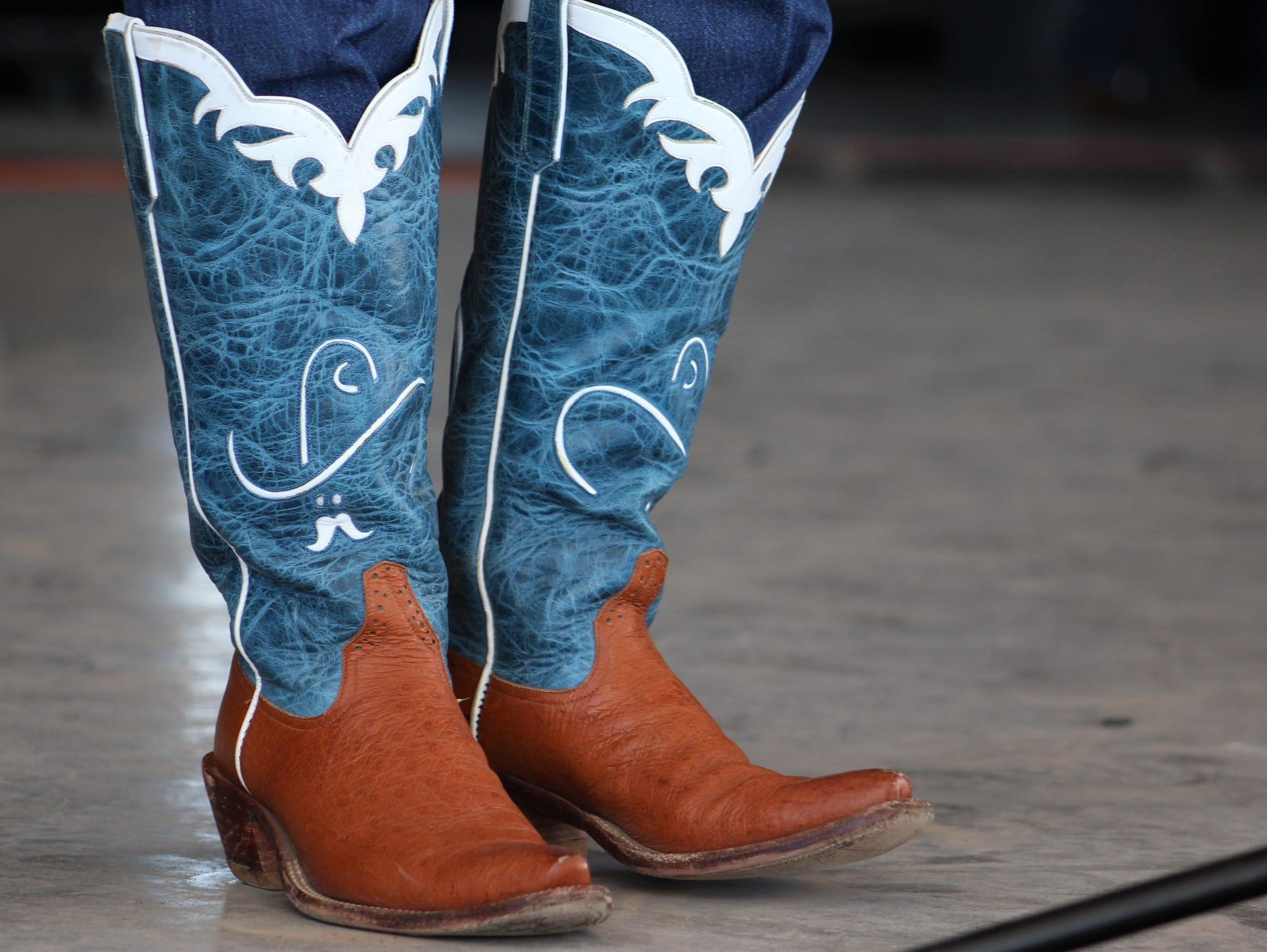 While people were listening to Jeff Gore sing at last year's Western Heritage Classic, some were admiring his boots, jeans tucked in. Gore is back for this year's event.