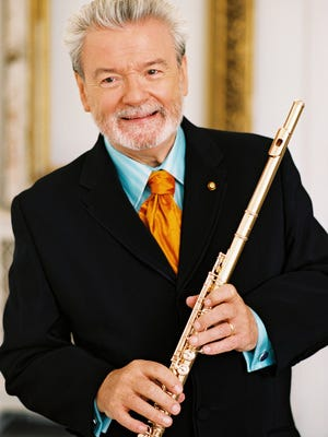 Master of the flute James Galway goes to Purchase College's Performing Arts Center on March 23, 2013, to perform works ranging from Mozart and Debussy to Henry Mancini.