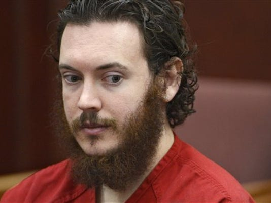 FILE - In this June 4, 2013, file photo, Aurora theater shooting suspect James Holmes appears in court in Centennial, Colo.