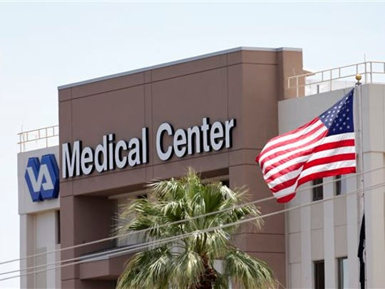 This photo from May 17 shows the Department of Veterans Affairs in Phoenix.