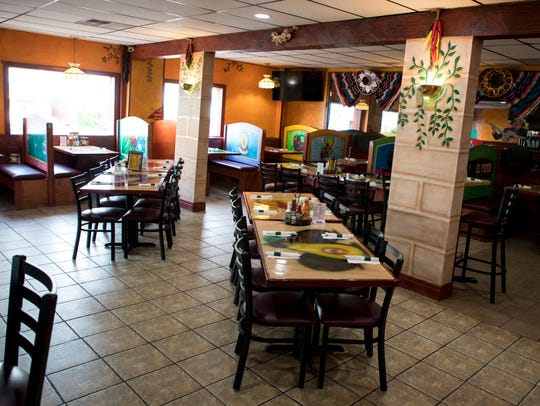 Seating at El Patron includes booths and tables for