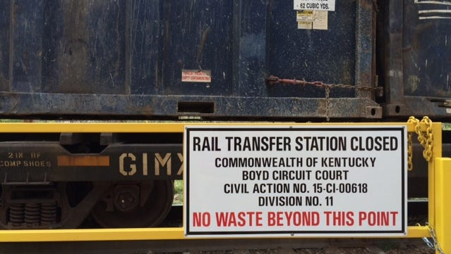 The end of the line for the East Coast trash trains into Boyd County, Kentucky.