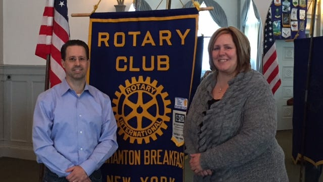 Jim Pudish, Rotary Club youth exchange counselor, and Kate McHugh, youth exchange chairwoman, work to bring exchange students to this area from all over the world and to send local students to other countries.