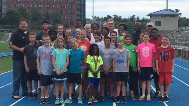 Asheville Lightning athletes and coaches