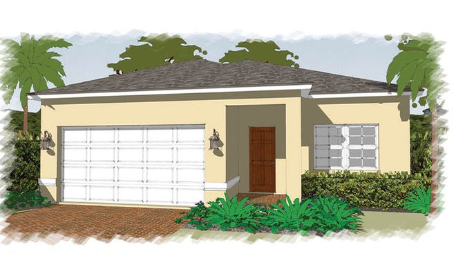 An artist's conception of the Fantasia, a new design offered at Arrowhead Reserve in Immokalee.