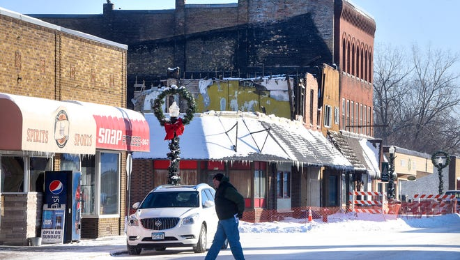 The city of Melrose is currently asking for funding from the state to help rebuild a portion of Main Street in the city destroyed by fire last summer.