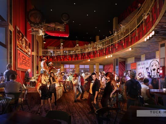 A rendering of the first level of Ole Red, the new