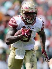 Florida State junior tailback Jacques Patrick figures