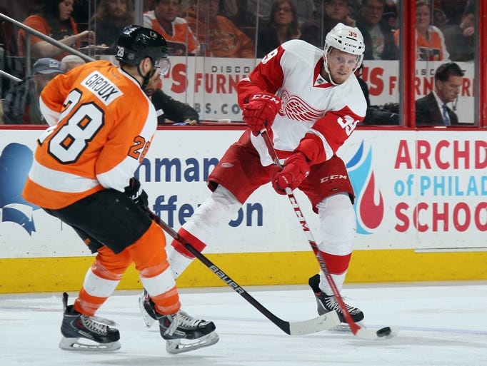 Detroit Red Wings'  Anthony Mantha   skates in his