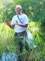 Charles O'Connor is the slough walk organizer and guide.