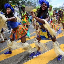 Revelers participate in the annual West Indian Day parade Monday in Brooklyn, N.Y. The parade, which draws a crowd of a million plus, celebrates Caribbean culture.