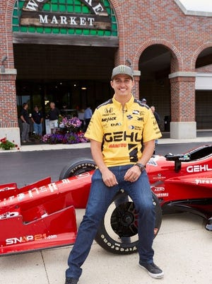 Graham Rahal, popular IndyCar driver, will greet fans and sign autographs at Woodlake Market on Thursday.