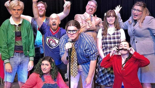 """The full cast from the upcoming QMT production of """"The 25th Annual Putnam County Spelling Bee"""" continues this weekend at The Quincy Music Theatre."""