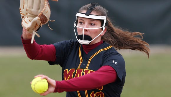 McCutcheon pitcher Heather Johnson with the delivery