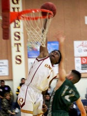 A star on the football field, Jaron Waters has been a key contributor to the basketball team this season for Oxnard High.