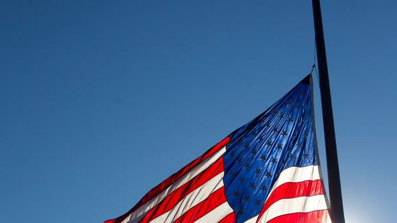 Flag flies at half-staff