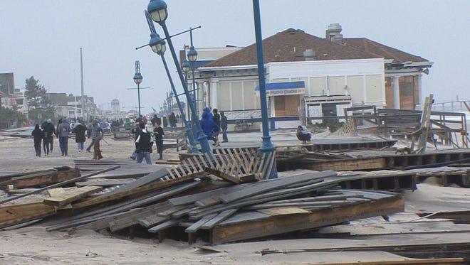 The Belmar boardwalk on Oct. 30, 2012