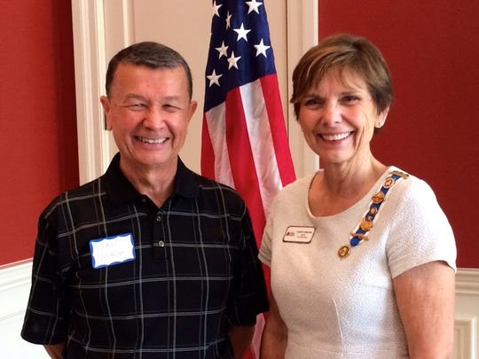 Marco Island Presbyterian Church Pastor Jan Werson was invited to speak to Marco's DAR by its regent, Karen Lombardi.