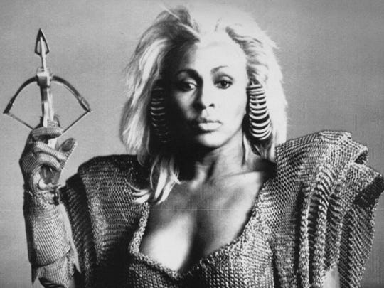 """Tina Turner portrayed """"Aunt Entity"""" in the film """"Mad Max Beyond Thunderdome."""""""
