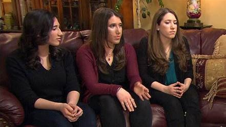 Ellen Brody's daughters, from left: Alexa, Julia and Danielle Brody, speak with Matt Lauer during a Today show interview broadcast March 31, 2015. The three young women spoke about the Feb. 3, 2015, Valhalla SUV-train crash that took their mother's life and the lives of five passengers on the Metro-North train.